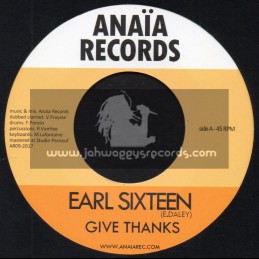 "Anaia Records-7""-Give Thanks / Earl Sixteen"