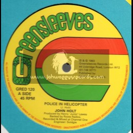 """Greensleeves Records-12""""-Police In Helicopter / John Holt"""
