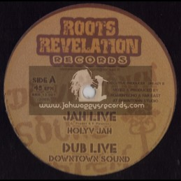 """ROOTS REVELATION RECORDS-12""""-JAH JIVE/HOLY JAH + THE RIGHT SIDE/DOCTER B"""