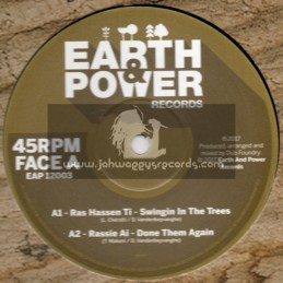 """Earth & Power Records-12""""-Swinging In The Trees / Ras Hassen Ti"""