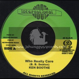 "Roots International-7""-Who Really Cares / Ken Boothe + Careless Dub / Conscious Mind"