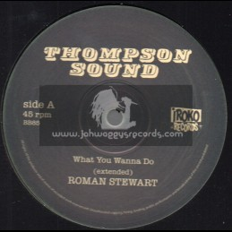 "Thompson Sound-Iroko Records-12""-What You Wanna Do / Roman Stewart + Jah Jah Dreader Than Dread / Linval Thompson"