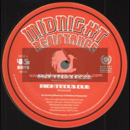 "Midnight Resistance-10""-Righteous Road / Everton Chambers + Wah Yuh Ah Duh Yah / Everton Chambers"