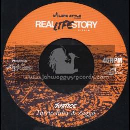 "Real Life Story-7""-Justice / Taurus Riley And Zagga + Self Driven / Bugle"