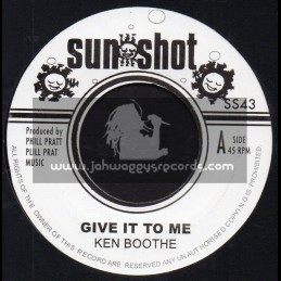 """Sun Shot-7""""-Give It To Me / Ken Boothe + Musical Air Raid / I Roy"""