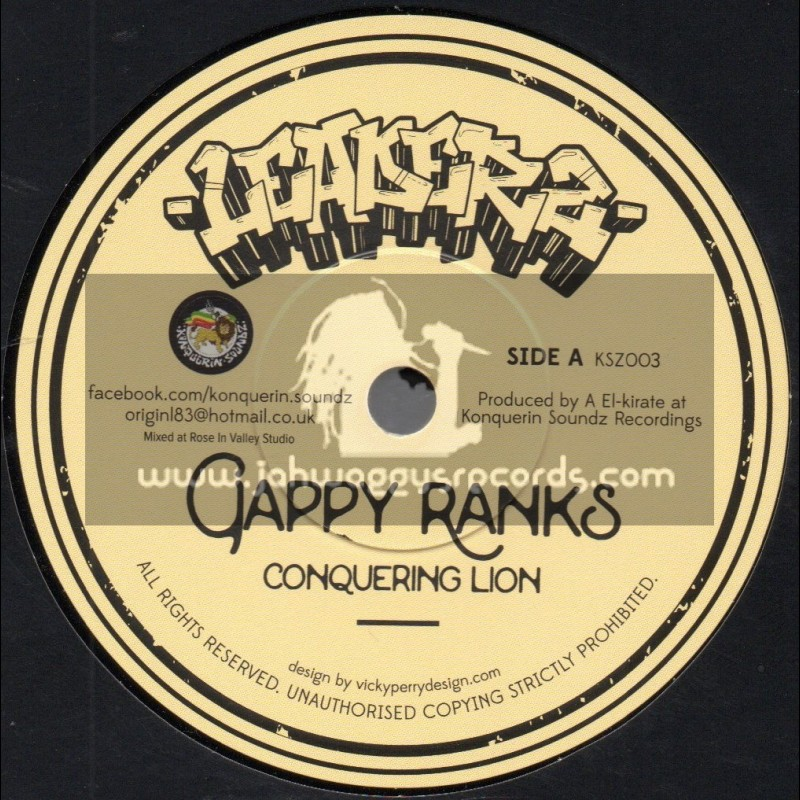 """Leaderz-7""""-Conquering Lion / Gappy Ranks + Stand For Life / Tenna Star"""