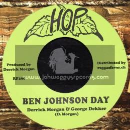 "Hop-7""-Ben Johnson Day / Derrick Morgan + Gleeful / Visions"