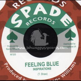 """Spade Records-7""""-Feeling Blue / Inspirations + Come On Little Girl / Winston Sinclair & Hippy Boys"""
