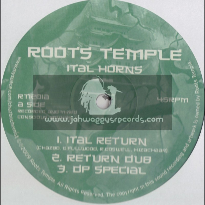 """ROOTS TEMPLE-12""""-ITAL RETURN/ITAL HORNS + ROOTS MOUNTAIN/MAKIKO FEAT IQUELA + KYAN"""