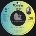 "Reggae On Top-7""-Purpose Thing / Eli Emmanuel"