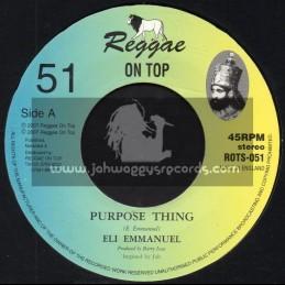 "Reggae On Top-7""-Purpose Thing / Eli Emmanuel"