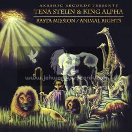 "Akashic Records-12""-Rasta Mission / Tena Stelin + Animal Rights / Tena Stelin - King Alpha"