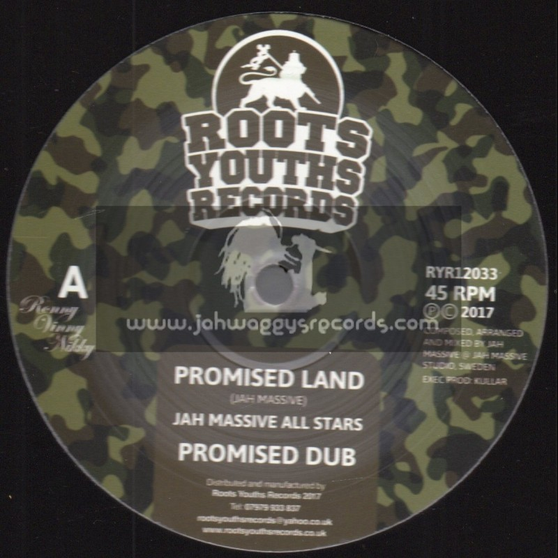 """Roots Youths Records -12""""-Promised Land / Jah Massive All Stars + Return To Jah / Jah Massive All Stars"""
