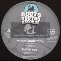 """Roots Youths Records-12""""-Mayan Connection / Nomadix + Crucial Times / Nomadix"""