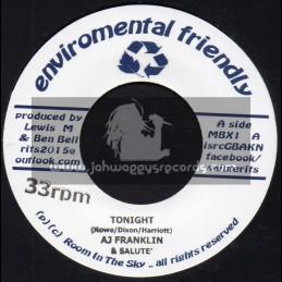 "Enviromental Friendly-7""-Tonight / AJ Franklin & Salute + The Poacher / Salute Ft. Vin Gordon & Ray Carless"
