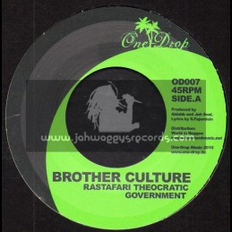 "One Drop-7""-Rastafari Theocratic Government / Brother Culture + Jah Soldiers / Mighty Howard"