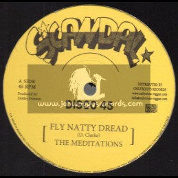 """Scandal-12""""-Fly Natty Dread / The Meditations + Justice / The Meditations"""