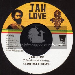 "Jah Love-7""-Jah Live / Clive Matthews + Wadada Version / Lone Ark Riddim Force"