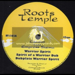 "ROOTS TEMPLE-12""-WARRIOR SPIRIT+PROPHET OF DUB/CHAZBO MEETS EMPRESS SHEMA"