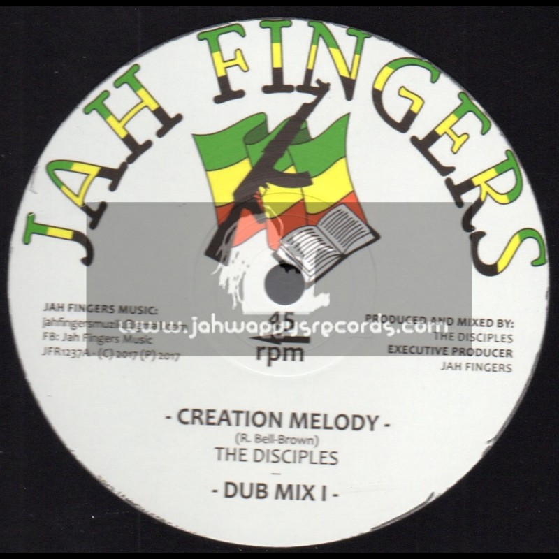 """Jah Fingers Records-12""""-Creation Melody / The Disciples"""