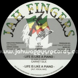 "Jah Fingers Records-12""-Life Is Like A Piano / Garnett Silk"