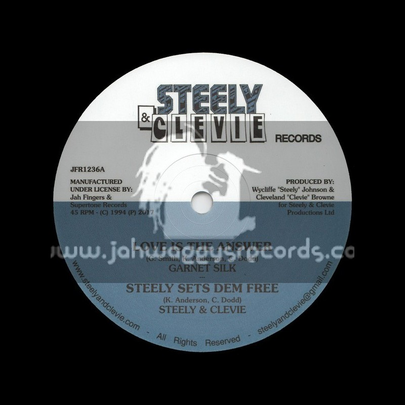 "Steely & Clevie Records-Jah Fingers-12""-Love Is The Answer / Garnet Silk + A Man In Love / Garnet Silk"
