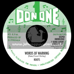 """Don One-7""""-Words of Warning / Roots"""
