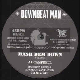 "Downbeat Man-7""-Mash Dem Down / Al Campbell"