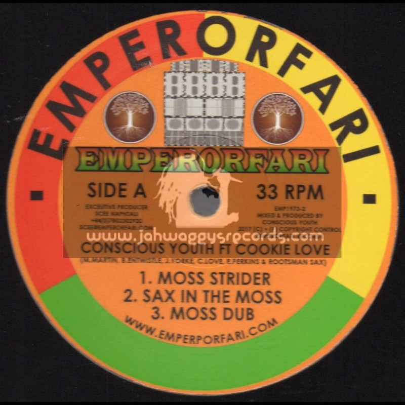 """Emperorfari-12""""-Moss Strider / Conscious Youth ft Cookie Love"""