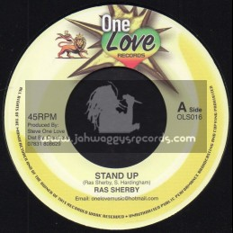 """One Love Records-7""""-Stand Up / Ras Sherby + Ease Up The Pressure / Michael Prophet And Junior Cat"""