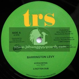"""Top Ranking Sound-12""""-Hypocrites / Barrington Levy + Oh Jah, Can't You See / Barrington Levy"""