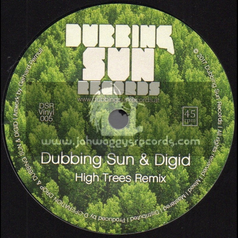 """Dubbing Sun Records-7""""-High Trees / D-Operation Drop + High Trees Remix / Dubbing Sub And Digid"""