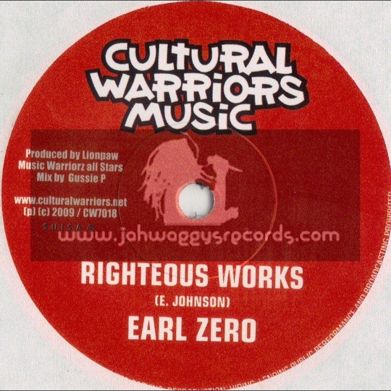 """CULTURAL WARRIORS MUSIC 7""""-RIGHTEOUS WORKS/EARL ZERO"""