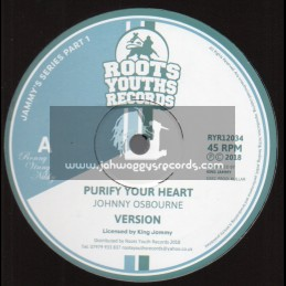 """Roots Youths Records-12""""-Purify Your Heart / Johnny Osbourne + Princess Lady / Lackley Castell - Jammy Series 1"""