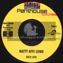 "Penthouse Records-7""-Natty Affi Long / Exco Levi + Perilous Time / Dalton Harris"