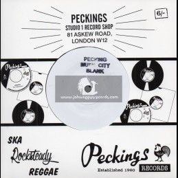 """Peckings Music City Blank-7""""-Heaven In Your Eyes / Gappy Ranks + Mountain Top / Gappy Ranks"""