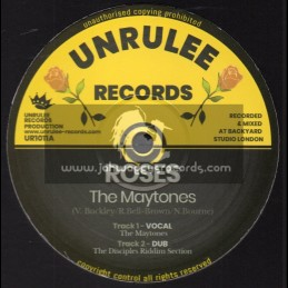 """Unrulee Records-10""""-Roses / The Maytones"""