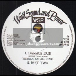 "Word Sound And Power-12""-Damage Dub / Tribulation All Stars + Jacob Dub / Tribulation All Star"
