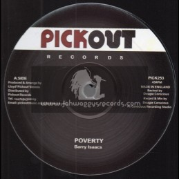 """Pick Out Records-12""""-Poverty / Barry Isaacs"""