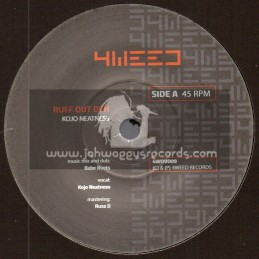 """4Weed Records-7""""-Ruff Out Deh / Kojo Neatness + Ruff Out Dubwise / Babe Roots"""
