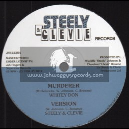 """Steely & Clevie Records-Jah Fingers-12""""-Murderer / Whitey Don + Soft Ina Bed / Derrick Irie"""