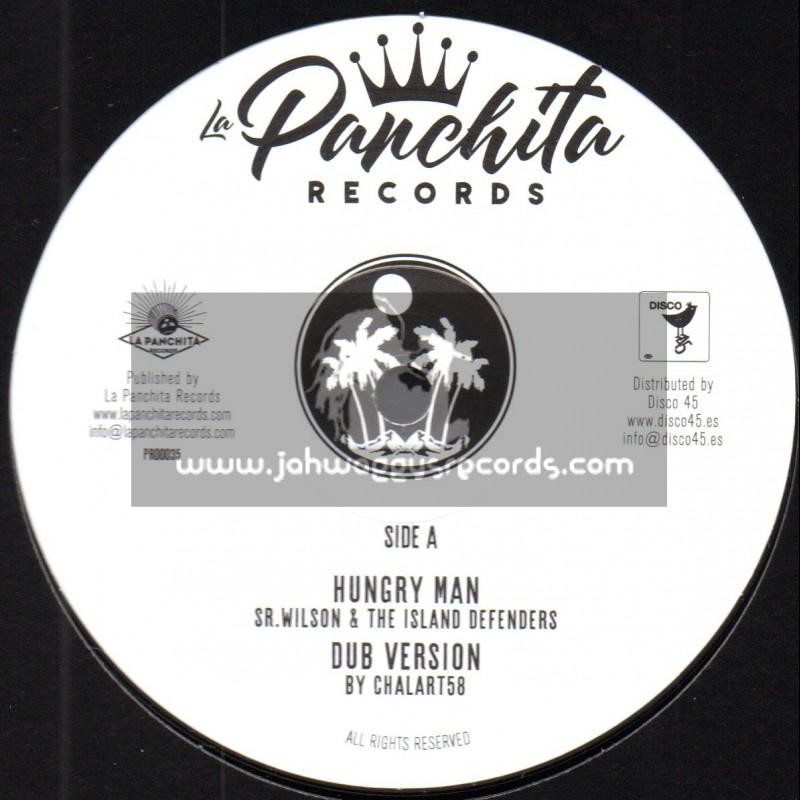 """La Panchita Records-12""""-Hungry Man / Sr. Wilson + Woman Soldier / Belen Natali"""
