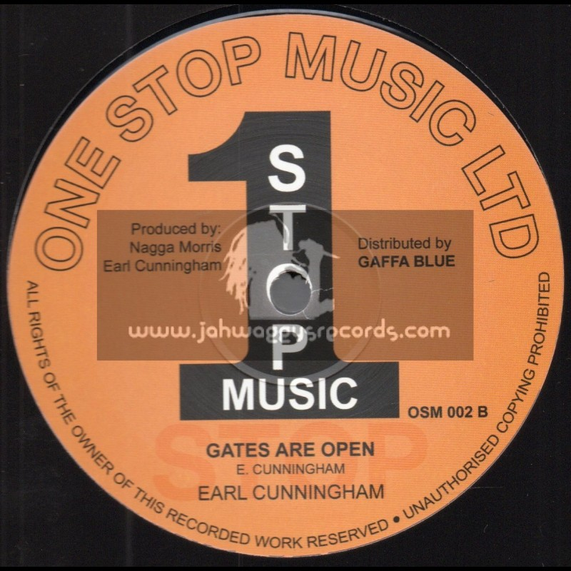 """One Stop Music Ltd-12""""-Got To Know That Place / Earl Cunningham  + Gates Are Open Wide / Earl Cunningham"""