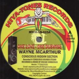 "Hiya-Tones Records-12""-One Love / Wayne McArthur + Rastafari Children / Wayne McArthur"