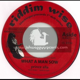"""RIDDIM WISE(KEETY ROOTS)-7""""-WHAT A MAN SOW / PRINCE ALLA"""