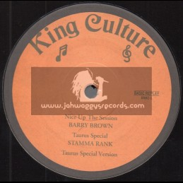 """King Culture-12""""-Nice Up The Session / Barry Brown + Lonely Girl / Rod Taylor"""