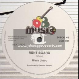 "D.E.B. Music-12""-Rent Man / Black Uhuru"