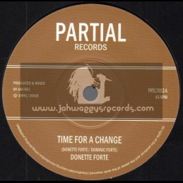 "Partial Records-7""-Time For a Change / Donette Forte"