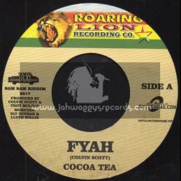 """Roaring Lion Record Co-7""""-Fyah Cocoa Tea + Fuego / Cocoa Tea Feat. Ines Pardo"""