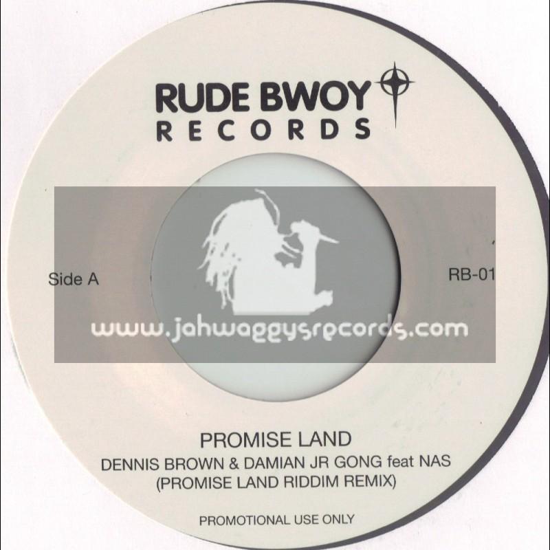 """RUDEBWOY RECORDS-7""""-PROMISE LAND /DENNIS BROWN-DAMIAN JR GONG-NAS"""